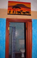 View from the bedroom to the bathroom